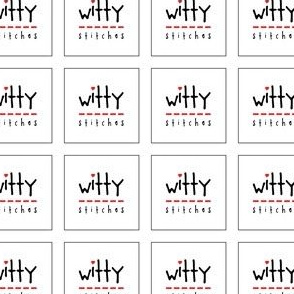 Witty Stitches Square Labels 1.5 inch
