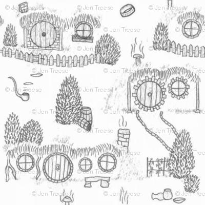 Grey Shire Toile