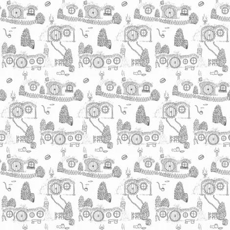 Grey Shire Toile fabric by spikymammal on Spoonflower - custom fabric