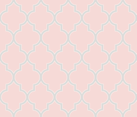 Cashmere and Blush Pink Ogee fabric by willowlanetextiles on Spoonflower - custom fabric