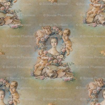 Boucher's Sketch of Madame de Pompadour - seamless