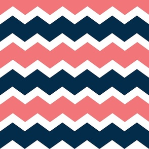 Chevron Navy-Coral