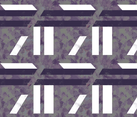 Bold Purple White Geometric Asymmetric fabric by wren_leyland on Spoonflower - custom fabric