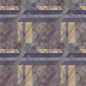 Bold Purple White Geometric Asymmetric