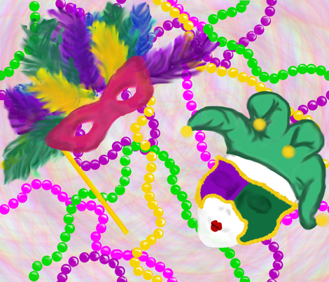 Mardi Gras Masks fabric by gomergrl on Spoonflower - custom fabric