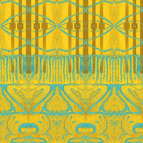 """Skyscraper bathed in Light""-ch fabric by elizabethvitale on Spoonflower - custom fabric"