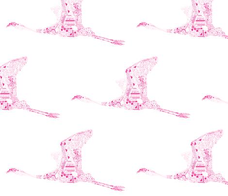 Fuchsia Flamingo fabric by kanikamathur on Spoonflower - custom fabric