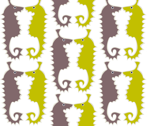 Seahorse_green fabric by antoniamanda on Spoonflower - custom fabric