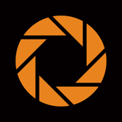 Orange on Black Aperture Portal