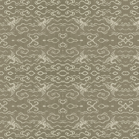 Golden Crane - stone fabric by materialsgirl on Spoonflower - custom fabric