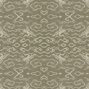 Golden Crane - stone
