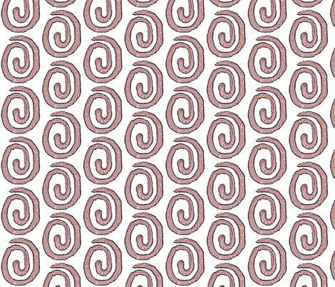 Block Print3-brown - spiral  fabric by koalalady on Spoonflower - custom fabric