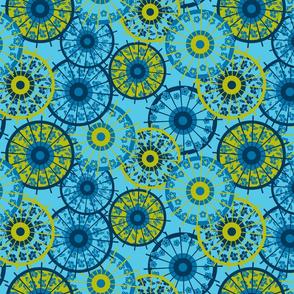 Japanese parasol blue