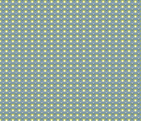 Japanese fans blue fabric by cjldesigns on Spoonflower - custom fabric
