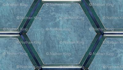 Spacecraft Walls blue