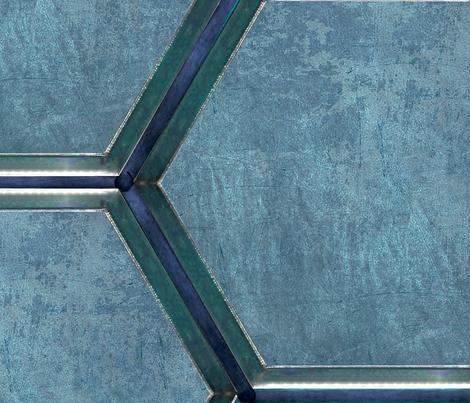 Spacecraft Walls blue fabric by warmcanofcoke on Spoonflower - custom fabric