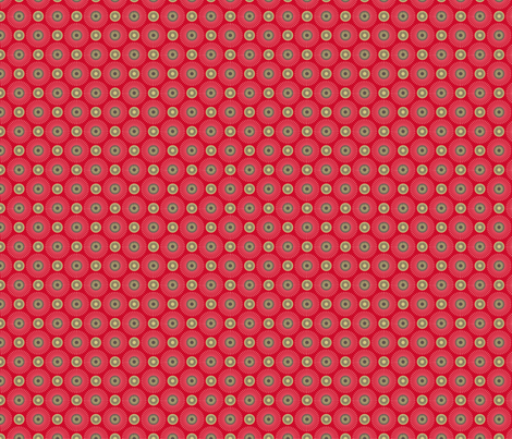 Hakea red small fabric by cjldesigns on Spoonflower - custom fabric