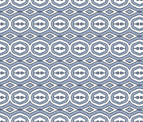 Block Print 5 - blue grey - diamond fabric by koalalady on Spoonflower - custom fabric
