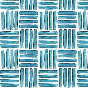 Blockprint 1 - turquoise - square