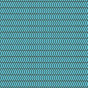 mini chevron blue