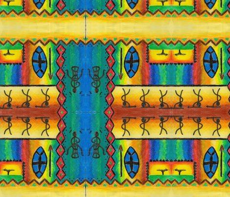 African_zulu_warrior fabric by podaiboo on Spoonflower - custom fabric