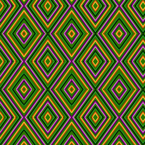Harlequin Mardi Gras Beads small fabric by whimzwhirled on Spoonflower - custom fabric