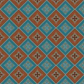 Rrvictorian_floral_pattern_brown_and_turquoise_diagonal_shop_thumb