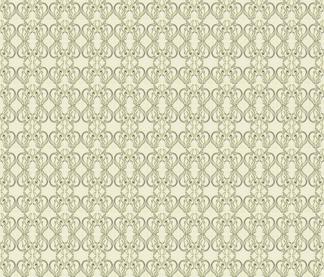 Impressionist_rabbits_inverted-yellow fabric by nardiat on Spoonflower - custom fabric