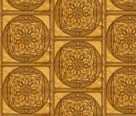 Eternity Mandala Leather fabric by galleryhakon on Spoonflower - custom fabric