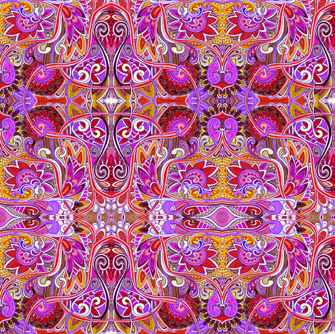 Party Time in the Psychedelic Garden fabric by edsel2084 on Spoonflower - custom fabric