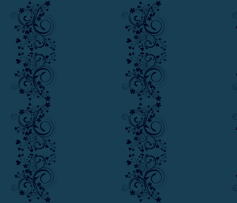 floral border fabric by mirromaru on Spoonflower - custom fabric