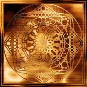 Eternity Mandala Shimmering Wood