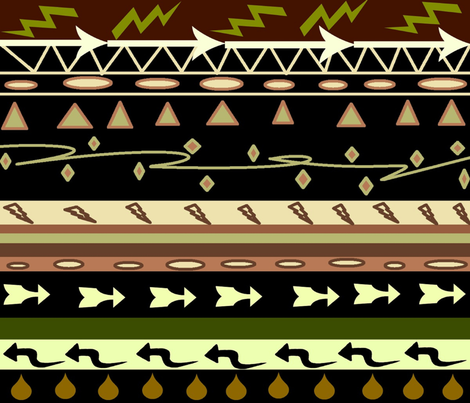 AFRICAN ARROWS MUD CLOTH fabric by bluevelvet on Spoonflower - custom fabric