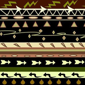 AFRICAN ARROWS MUD CLOTH