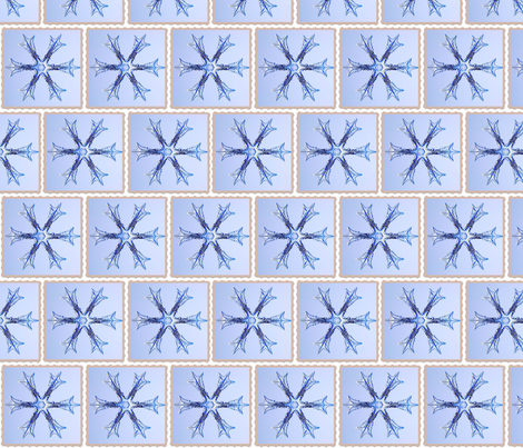 Schnee_3-ed frame fabric by nype on Spoonflower - custom fabric