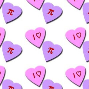I Heart Pi Candy Hearts