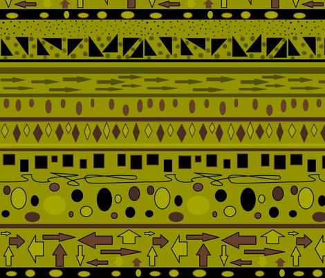 AFRICAN KHAKI PRINT fabric by bluevelvet on Spoonflower - custom fabric