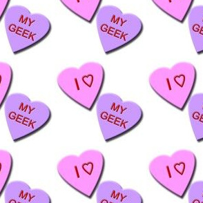 I Heart My Geek Candy Hearts