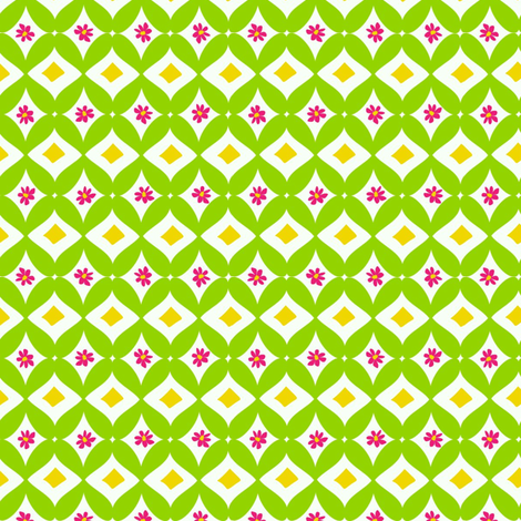 Trellis Coordinate for Spring Llamas fabric by lauriewisbrun on Spoonflower - custom fabric