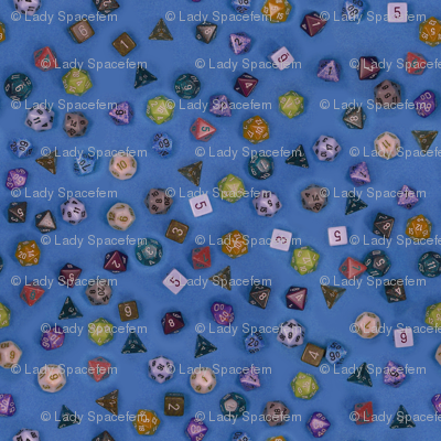 Gamer dice blue