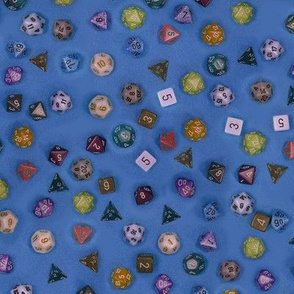 Gamer dice blue