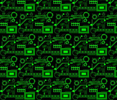 Circuits fabric by mirromaru on Spoonflower - custom fabric