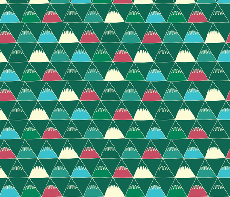 Emerald Mountains fabric by joyfulroots on Spoonflower - custom fabric