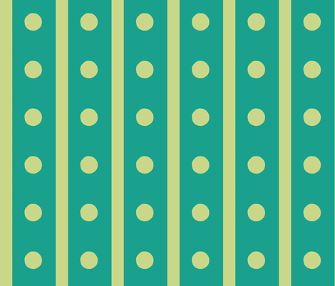 Green Dotty Stripes fabric by susaninparis on Spoonflower - custom fabric