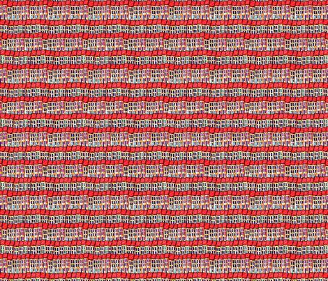 Naive Houses fabric by linsart on Spoonflower - custom fabric