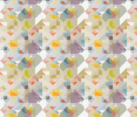 Geometric Watercolour Kaleidoscope fabric by kathykoo on Spoonflower - custom fabric
