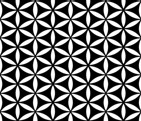 Flower of Life Black fabric by pixeldust on Spoonflower - custom fabric