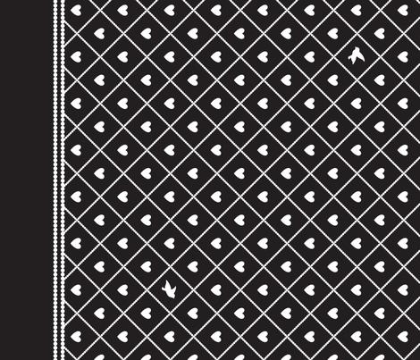Never Far Away - Border Fabric fabric by penina on Spoonflower - custom fabric