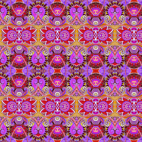 Party Hearty along the Magenta Garden (a horizontal stripe) fabric by edsel2084 on Spoonflower - custom fabric