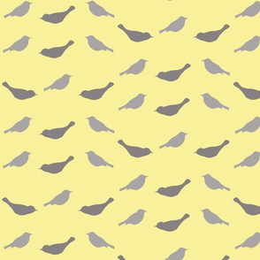 birdie friends in gray and yellow